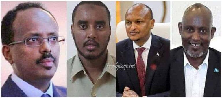 Farmaajo, C/weli Muudey, Fahad Yaasiin & Mahdi Guuleed oo iska kaashanaya Qorshe ka dhan Beelaha Muqdisho