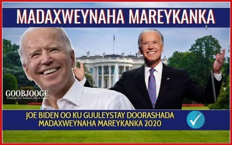 DEGDEG: Joe Biden oo ku guuleystay Doorashadii Madaxweynaha Mareykanka